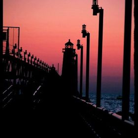 Pier at Lake Michigan,Grand Haven, Michigan.  Taken with a Cannon EOS 7D.