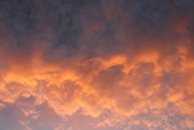 Sunset sky border