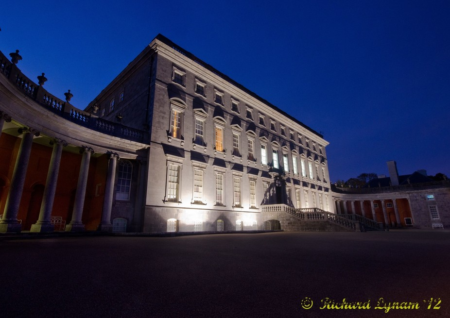 castletown house at night