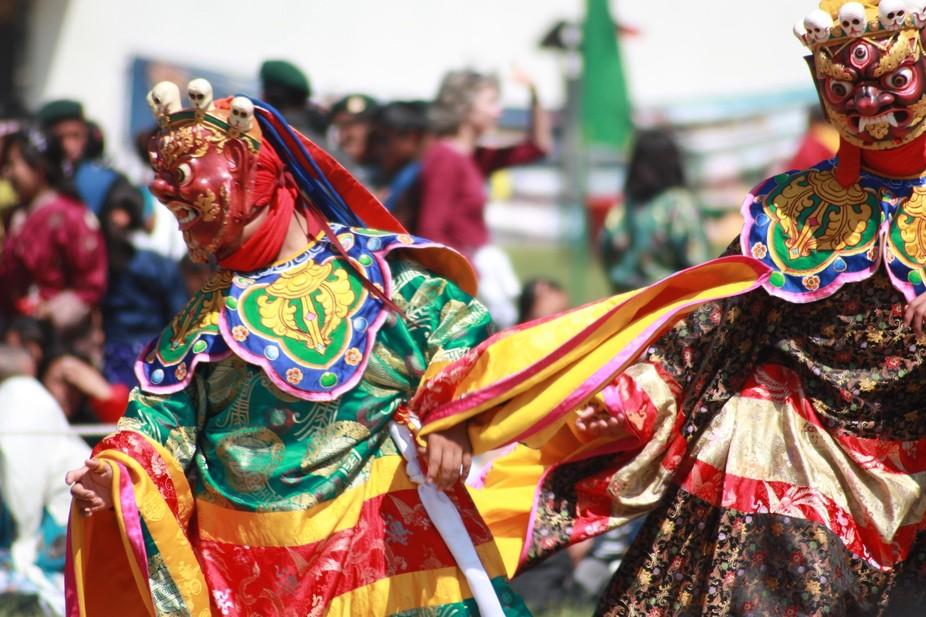during wangdue tshechu in Bhutan, 2012