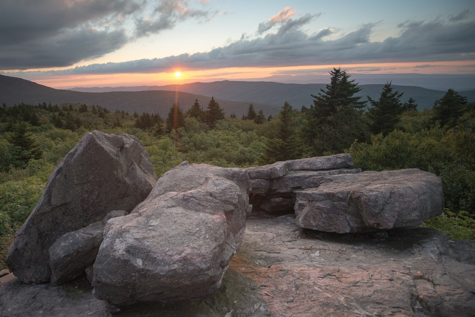 This photo was taken at Grayson Highlands State Park in Virginia.