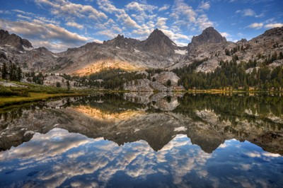 Mount Ritter and Banner Peak Reflection