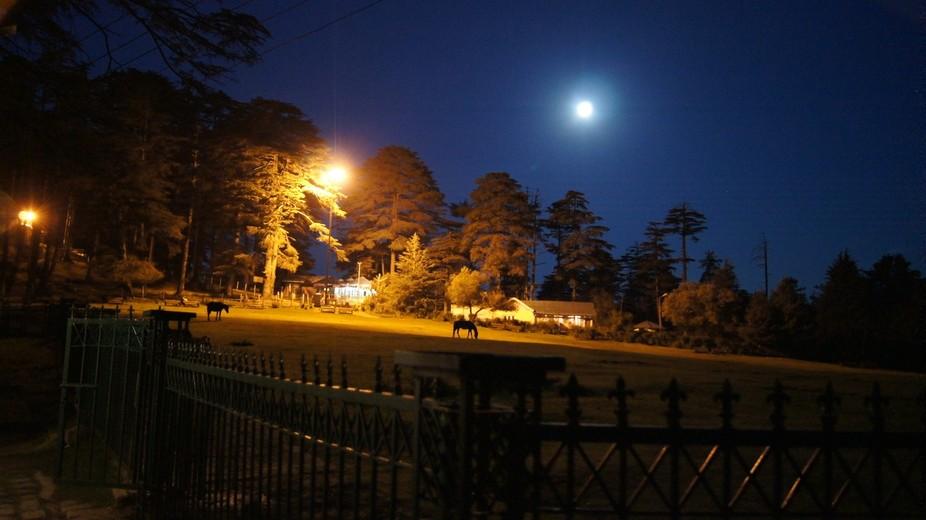Late night in Patnitop, J&K, India