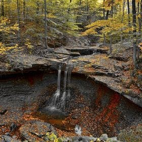 Blue hen falls is located in the Cuyahoga National parks. A great place to hike in all seasons. Fall is my favorite but 5 below zero can be fun too.