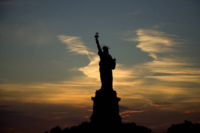 Lady Liberty at Sunset by vancorey - New York Photo Contest