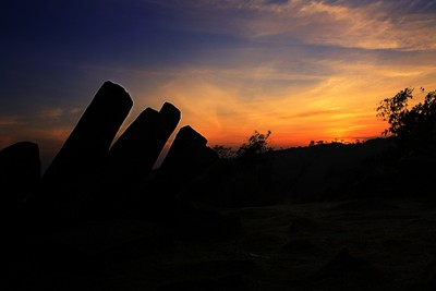 Sunrise in Gunung Padang Megalithic Site