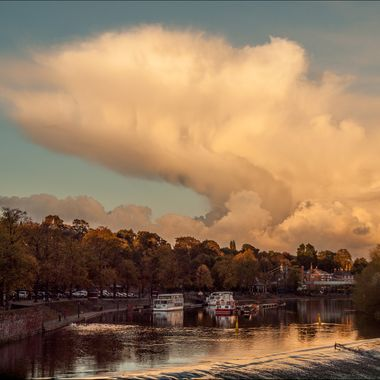 A most amazing cloud over the River Dee at Chester, England.