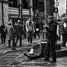 This musician can often be seen in Chester near The Cross at the top of Bridge Street. He is a very skilful, professional and enhances the city a...