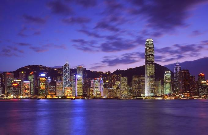 Magic Hour of Hong Kong by lekahuie - City In The Night Photo Contest