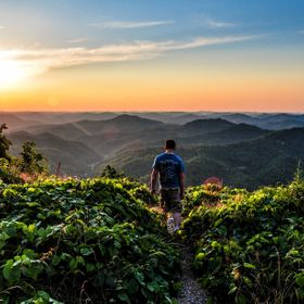 My oldest son, Benjamin, enjoying the sunset on top of Pine Mountain, Ky.  *Won Staff Favorite in the Mountains Contest of 2012.  :) *Won Front C...