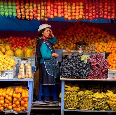 Fruit vendor...
