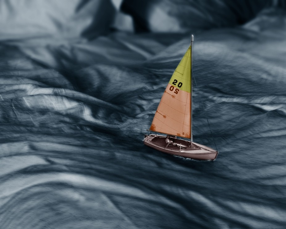 A revamped version of Sailing Sheets, in which I added color to the black and white image.  Anywa...