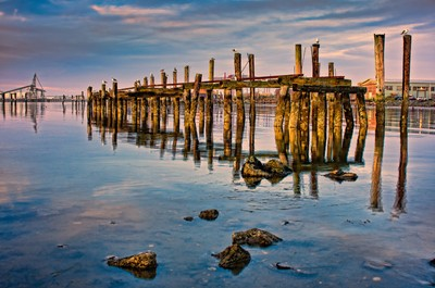 Humboldt Bay Pylons