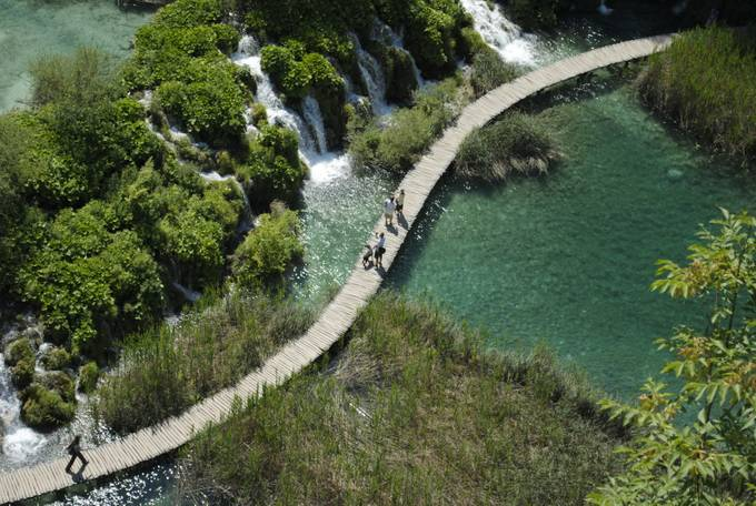 Plitvice-lakes from above by korinna - Promenades And Boardwalks Photo Contest