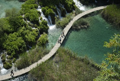 Plitvice-lakes from above