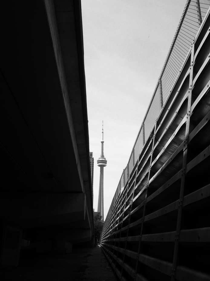The CN Tower in Toronto.
