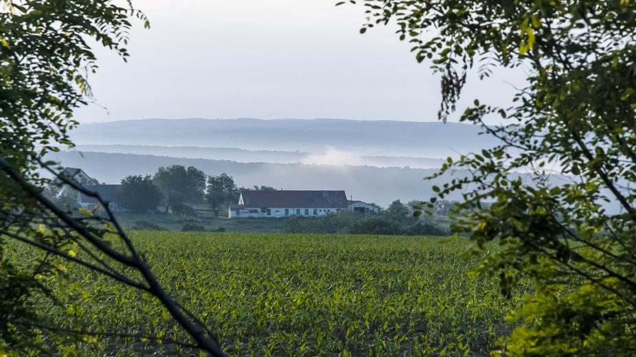 landscape in Hungary, Europe, near Boldegasszonyfa
