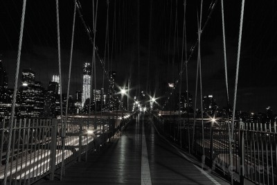 Up on the Brooklyn Bridge