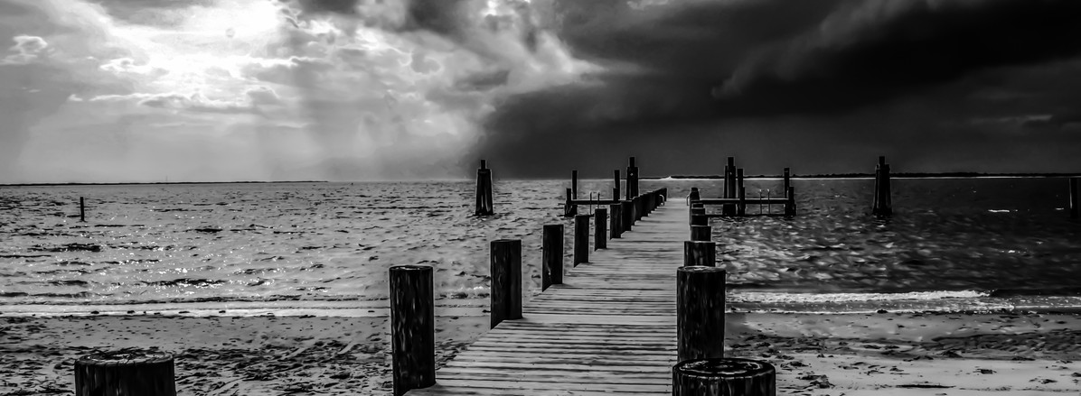 Incoming Storm at Cape Lookout Pier
