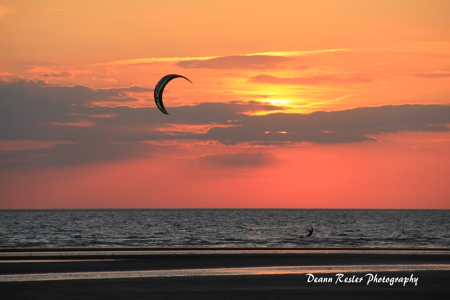 Wind Surfer by Sunset