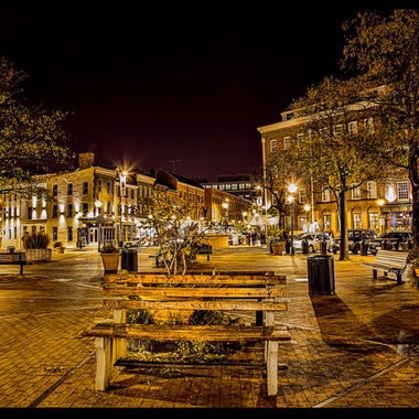 Fells Point, Baltimore, Inner Harbor, night