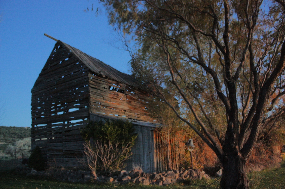 This old barn is up the street from where I live. It made a perfect subject on October 31st, 2012...