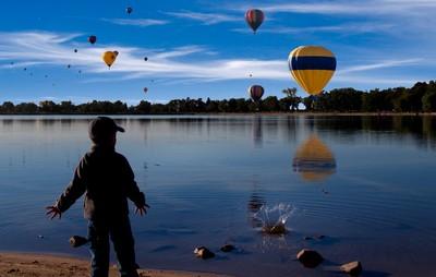 Splash in the lake