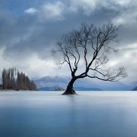 Looking towards Mt Alta from Lake Wanaka (New Zealand) on a gloomy early winter's day.  Canon EOS 5D Mark III, Canon EF 17-40 f/4.0L USM @ 32mm...