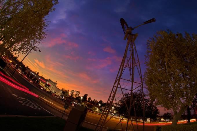 Windmill at Sunset by GabrielPerez - City Sunsets Photo Contest