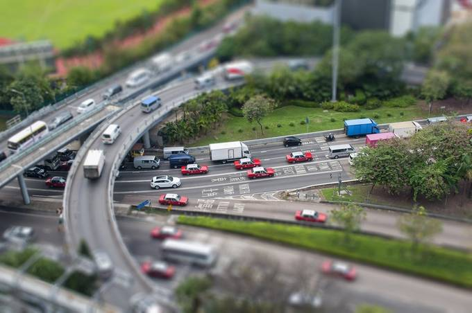 Small Town traffic by JayLawler - TiltShift Effect Photo Contest
