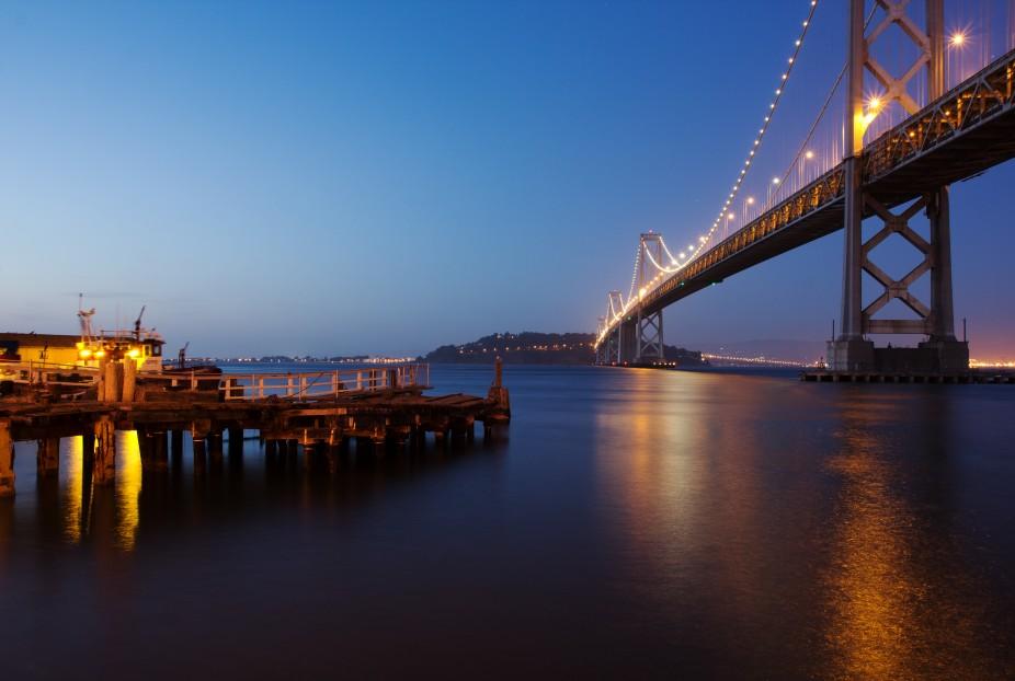 The Bay Bridge in San Fransisco, California.