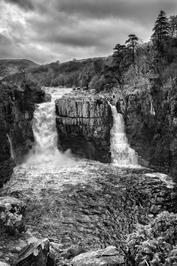 High Force Waterfall by benhull - The Water In Black And White Photo Contest