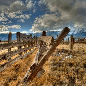 The old corral in Washoe Valley, Nevada, seen in a different light.