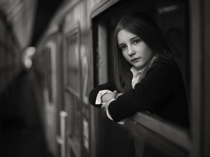 In train by przemyslawchola - Black And White Compositions Photo Contest