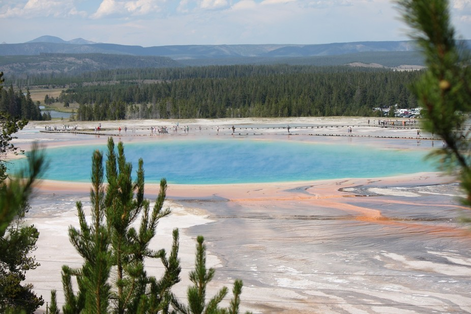 One of the most beautiful, and colorful hot springs of yellowstone.