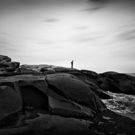 A photograph I took with my brother in the distance during a trip to Nova Scotia. This photograph was taken down by Peggy's Cove. With the l...