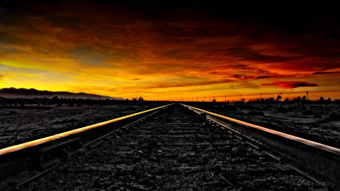 Desert Sunset.. by sweetpea72 - Empty Railways Photo Contest
