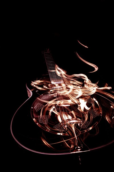 Guitar with light