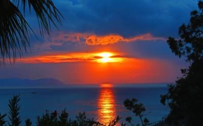 Sunrise in Amos, Turunc, Turkey
