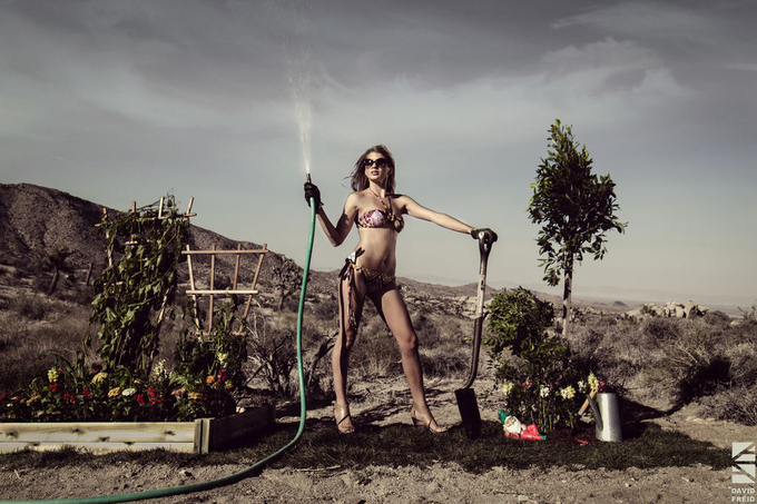 Bikini Gardener by Dfreid - Photoshop World Photo Contest