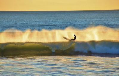 Sun set surfer