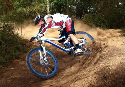 Enduro mountain biker