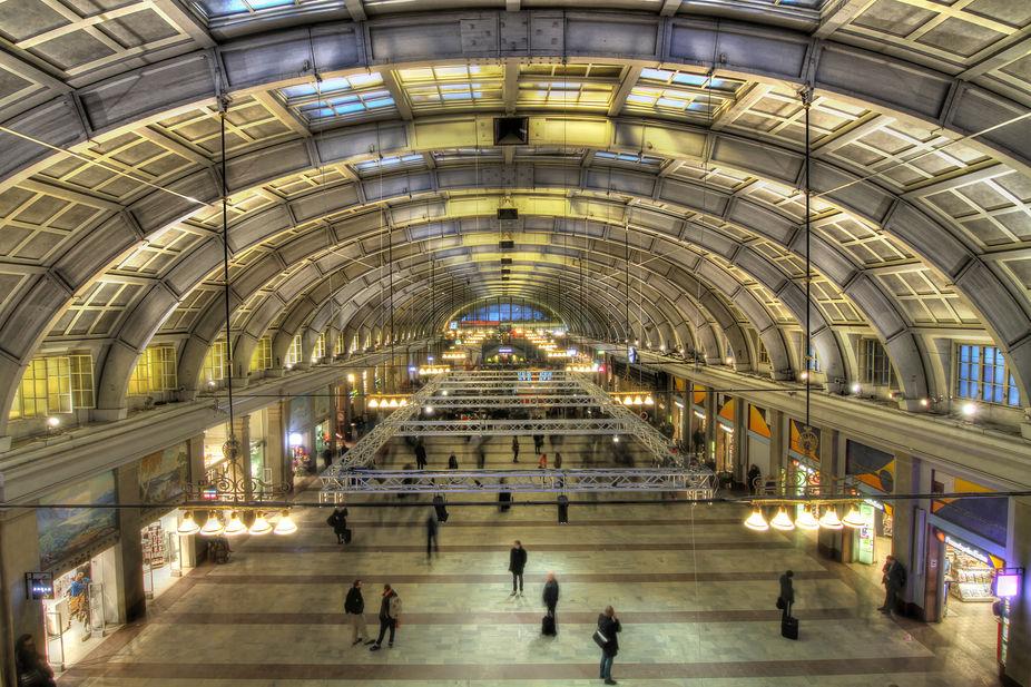 Waiting for the train home @ Stockholm Central Station, Sweden.