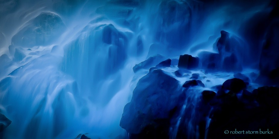 ...cool, calming waterfall in western NC, where I call home... this image came out with a natural...