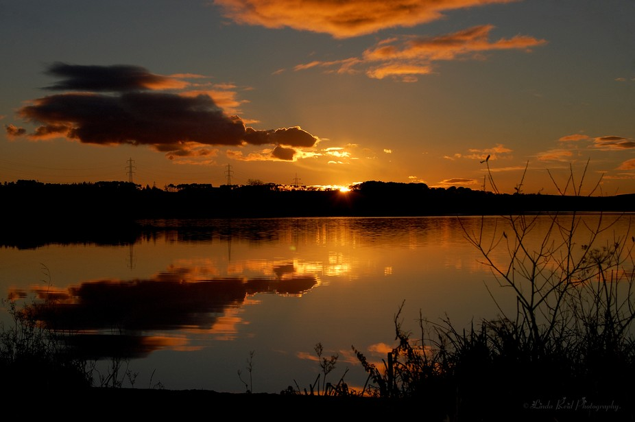 sunset at Loch Fitty