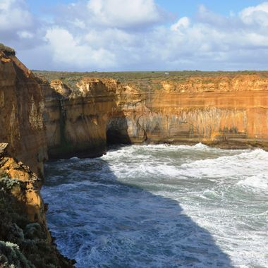One of the rock formation and Cave along the Great Ocean Road Drive in Victoria, Australia