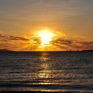 Fijian Sunset from The Shangrila Fijian Resort