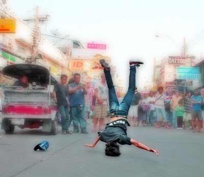 Break Dancing in Bangkok