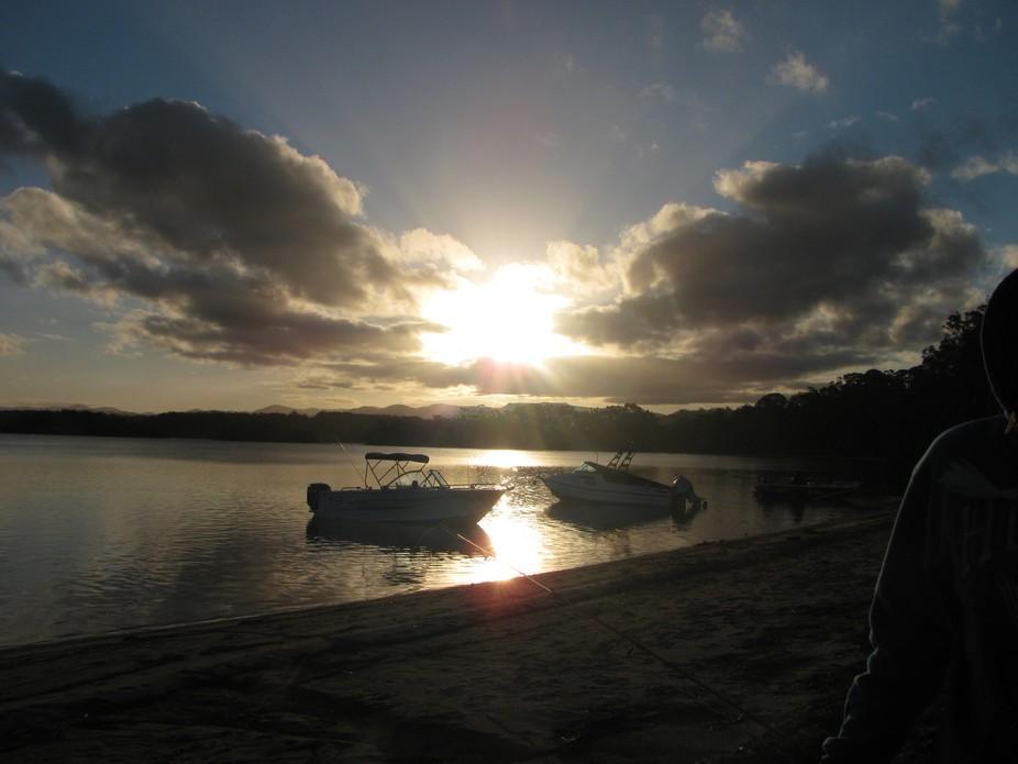 sunset at tuross lakes