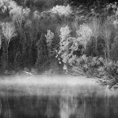 Morning on the lake BW